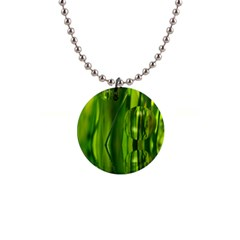 Green Bubbles  Button Necklace