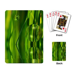 Green Bubbles  Playing Cards Single Design by Siebenhuehner