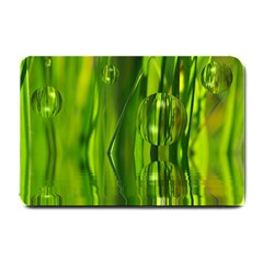 Green Bubbles  Small Door Mat by Siebenhuehner