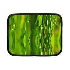 Green Bubbles  Netbook Case (small) by Siebenhuehner