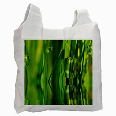 Green Bubbles  Recycle Bag (one Side) by Siebenhuehner