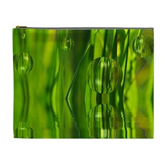 Green Bubbles  Cosmetic Bag (xl) by Siebenhuehner
