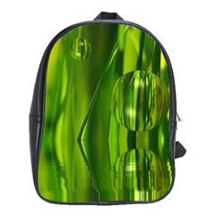 Green Bubbles  School Bag (large) by Siebenhuehner