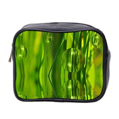 Green Bubbles  Mini Travel Toiletry Bag (two Sides) by Siebenhuehner