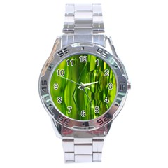 Green Bubbles  Stainless Steel Watch (men s) by Siebenhuehner
