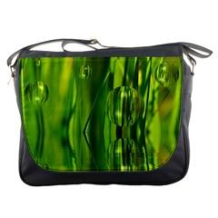 Green Bubbles  Messenger Bag by Siebenhuehner