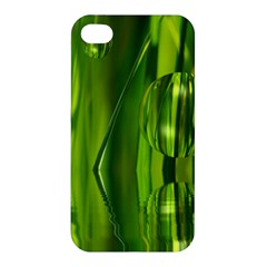 Green Bubbles  Apple Iphone 4/4s Premium Hardshell Case by Siebenhuehner