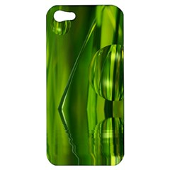 Green Bubbles  Apple Iphone 5 Hardshell Case by Siebenhuehner