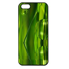 Green Bubbles  Apple Iphone 5 Seamless Case (black) by Siebenhuehner