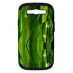 Green Bubbles  Samsung Galaxy S Iii Hardshell Case (pc+silicone) by Siebenhuehner