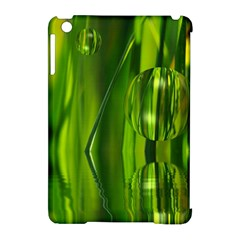Green Bubbles  Apple Ipad Mini Hardshell Case (compatible With Smart Cover) by Siebenhuehner