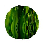 Green Bubbles  15  Premium Round Cushion  Front