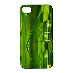 Green Bubbles  Apple Iphone 4/4s Hardshell Case With Stand by Siebenhuehner