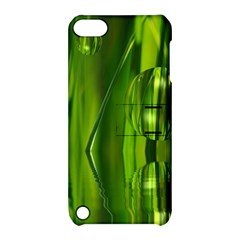 Green Bubbles  Apple Ipod Touch 5 Hardshell Case With Stand by Siebenhuehner