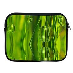 Green Bubbles  Apple Ipad 2/3/4 Zipper Case by Siebenhuehner