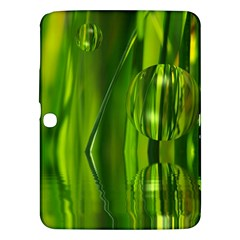 Green Bubbles  Samsung Galaxy Tab 3 (10 1 ) P5200 Hardshell Case  by Siebenhuehner