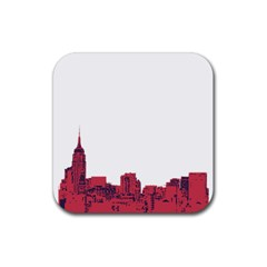 Skyline Drink Coasters 4 Pack (square) by PaolAllen