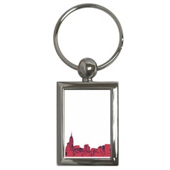 Skyline Key Chain (rectangle) by PaolAllen