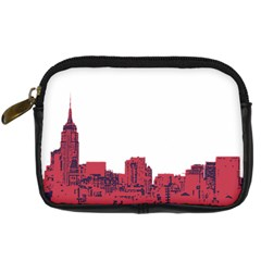 Skyline Digital Camera Leather Case by PaolAllen