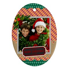 Merry Christmas By Merry Christmas   Oval Ornament (two Sides)   Ks8fj4mgzfvc   Www Artscow Com Back