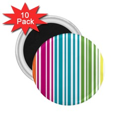 Color Fun 2 25  Button Magnet (10 Pack)