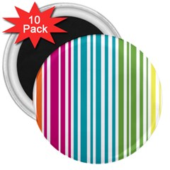 Color Fun 3  Button Magnet (10 Pack) by PaolAllen