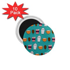 Time For Coffee 1 75  Button Magnet (10 Pack) by PaolAllen