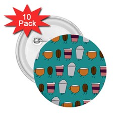 Time for coffee 2.25  Button (10 pack) by PaolAllen
