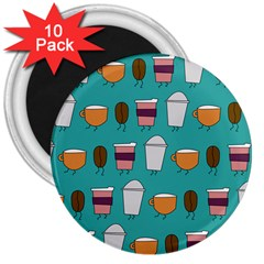 Time For Coffee 3  Button Magnet (10 Pack) by PaolAllen