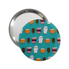 Time For Coffee Handbag Mirror (2 25 ) by PaolAllen