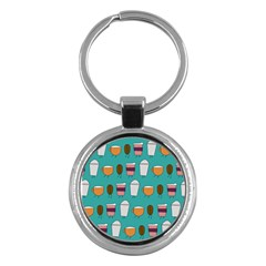 Time For Coffee Key Chain (round) by PaolAllen