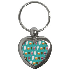 Time For Coffee Key Chain (heart) by PaolAllen