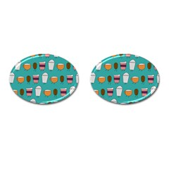 Time For Coffee Cufflinks (oval) by PaolAllen