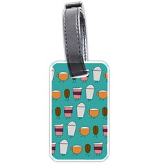 Time For Coffee Luggage Tag (one Side)