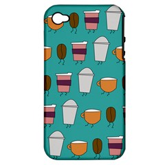 Time for coffee Apple iPhone 4/4S Hardshell Case (PC+Silicone) by PaolAllen