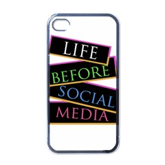Life Before Social Media Apple Iphone 4 Case (black) by PaolAllen
