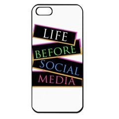 Life Before Social Media Apple Iphone 5 Seamless Case (black)