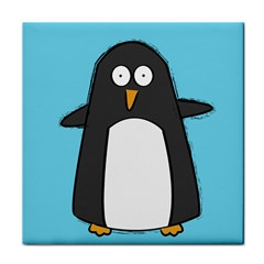 Hello Penguin Ceramic Tile by PaolAllen