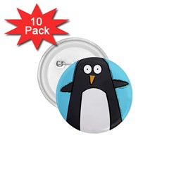 Hello Penguin 1 75  Button (10 Pack) by PaolAllen