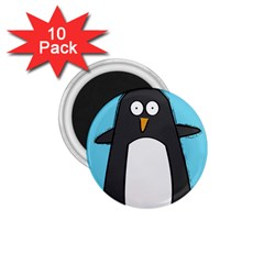 Hello Penguin 1.75  Button Magnet (10 pack) by PaolAllen