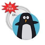 Hello Penguin 2.25  Button (10 pack) Front