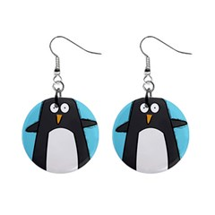 Hello Penguin Mini Button Earrings by PaolAllen