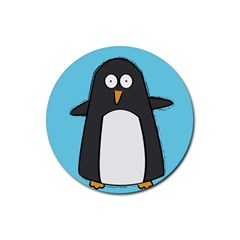 Hello Penguin Drink Coasters 4 Pack (round) by PaolAllen