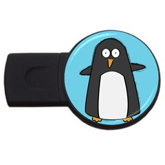 Hello Penguin 4GB USB Flash Drive (Round) by PaolAllen