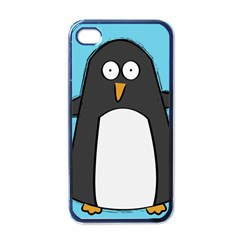 Hello Penguin Apple Iphone 4 Case (black) by PaolAllen