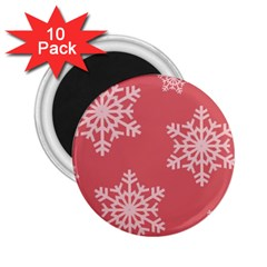 Let It Snow 2 25  Button Magnet (10 Pack) by PaolAllen
