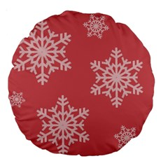 Let It Snow 18  Premium Round Cushion  by PaolAllen