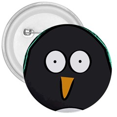 Penguin Close Up 3  Button by PaolAllen