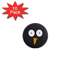 Penguin Close Up 1  Mini Button Magnet (10 Pack) by PaolAllen