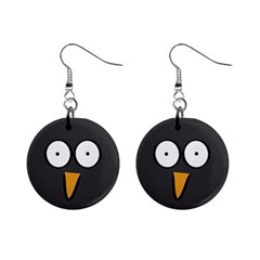 Penguin Close Up Mini Button Earrings by PaolAllen